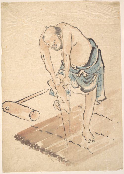 Man On A Raft by Katsushika Hokusai (1760-1849, Japan) | Museum Quality Reproductions | WahooArt.com