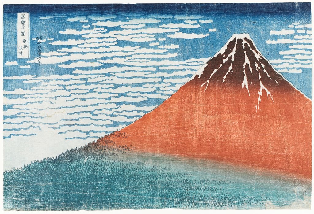 Mount Fuji Viewed During A Fine Wind On A Clear Morning by Katsushika Hokusai (1760-1849, Japan) | Art Reproduction | WahooArt.com