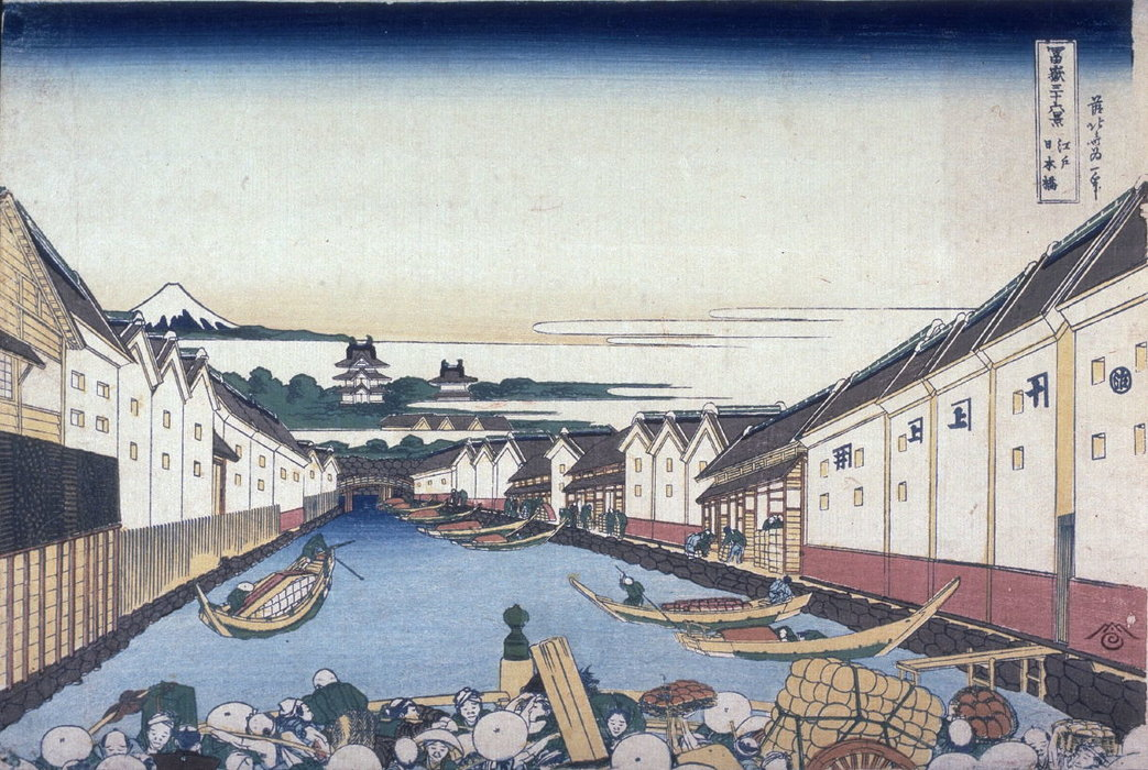 Nihon Bridge In Edo by Katsushika Hokusai (1760-1849, Japan)