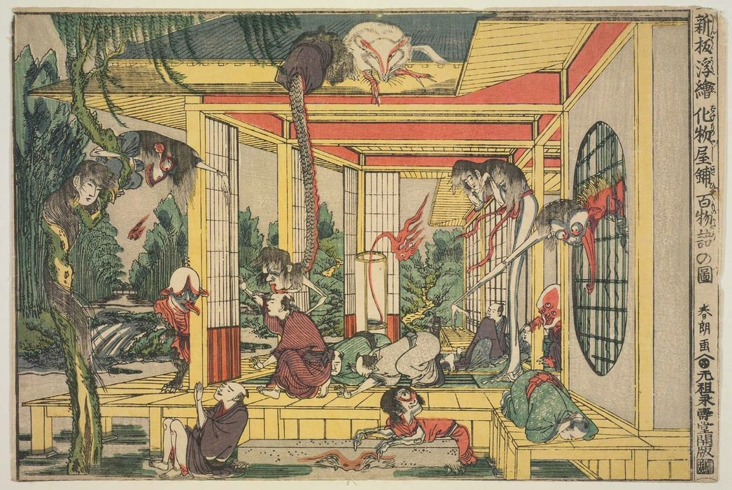 One Hundred Ghost Stories In A Haunted House by Katsushika Hokusai (1760-1849, Japan) | Museum Quality Reproductions | WahooArt.com