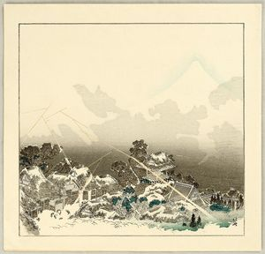Katsushika Hokusai - One Hundred Views Of Mt. Fuji - Mt. Fuji In Evening Shower