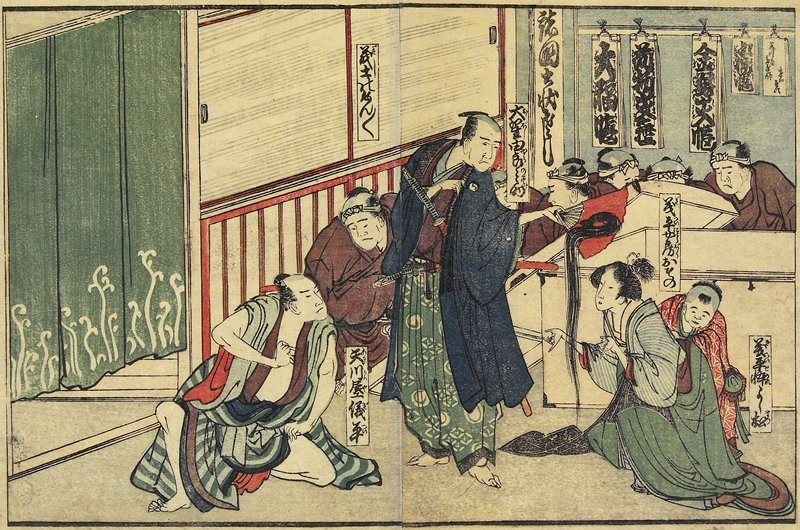 Osono Offering Her Hair by Katsushika Hokusai (1760-1849, Japan) | Famous Paintings Reproductions | WahooArt.com