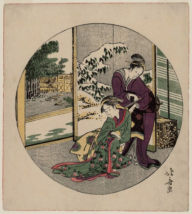 Parody Of Act Ix Of Chûshingura by Katsushika Hokusai (1760-1849, Japan)