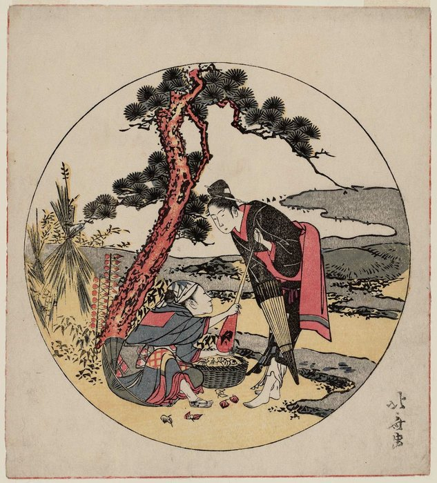 Parody Of Act V Of Chûshingura by Katsushika Hokusai (1760-1849, Japan)