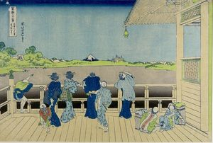 Katsushika Hokusai - Sazai Hall Of The Five-hundred-rakan Temple In Edo