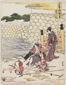 Katsushika Hokusai - Scene Of The Quarrel
