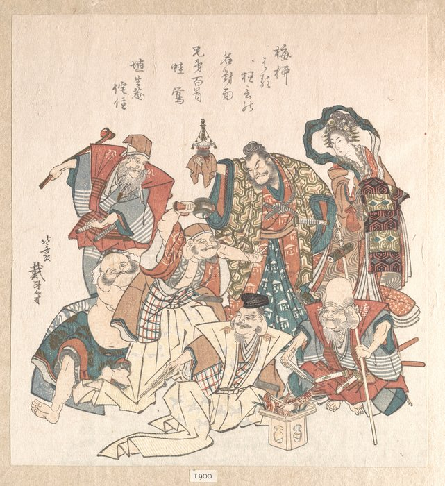 Seven Gods Of Good Fortune by Katsushika Hokusai (1760-1849, Japan)