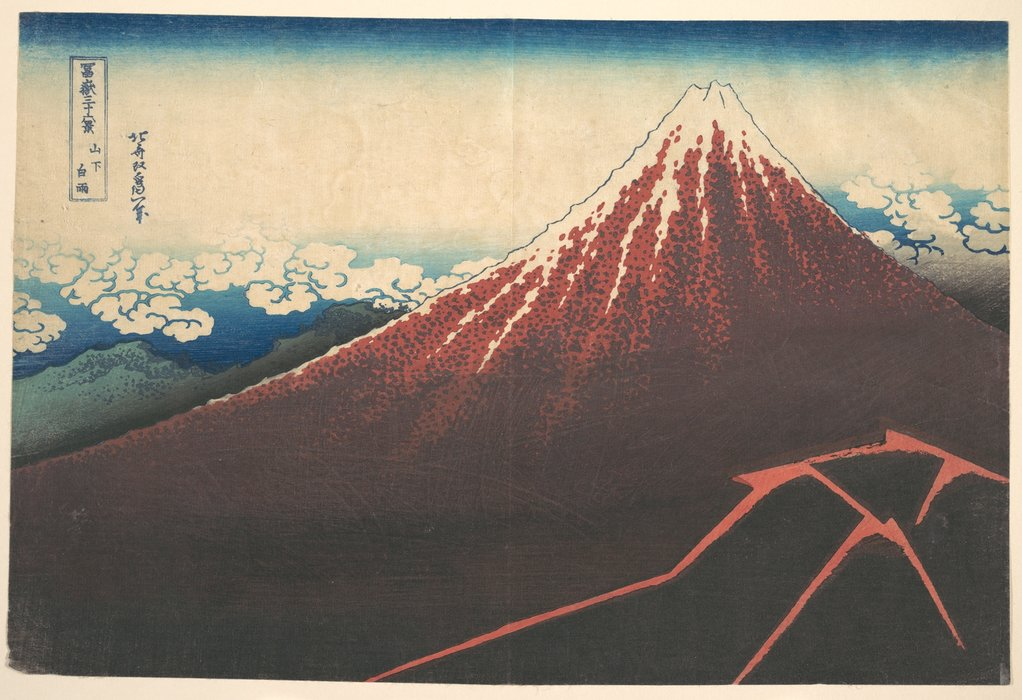 Storm Below Mount Fuji by Katsushika Hokusai (1760-1849, Japan)