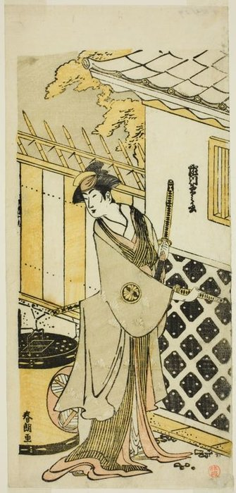 The Actor Segawa Kikunojo Iii As A Woman Of A Samurai Family by Katsushika Hokusai (1760-1849, Japan)