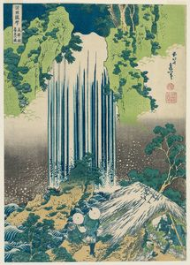 Katsushika Hokusai - The Care-of-the-aged Falls In Mino Province