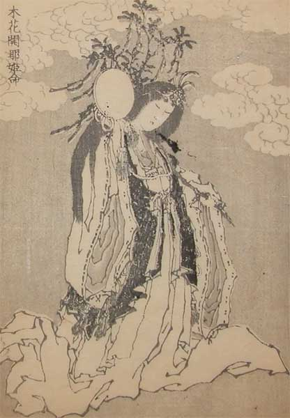 The Goddess Of Fuji by Katsushika Hokusai (1760-1849, Japan)