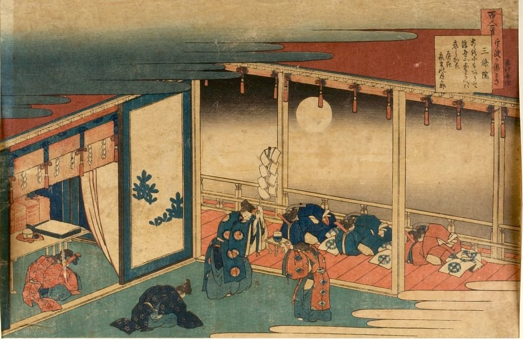 The Hundred Poems Explained By The Nurse by Katsushika Hokusai (1760-1849, Japan) | Museum Quality Reproductions | WahooArt.com