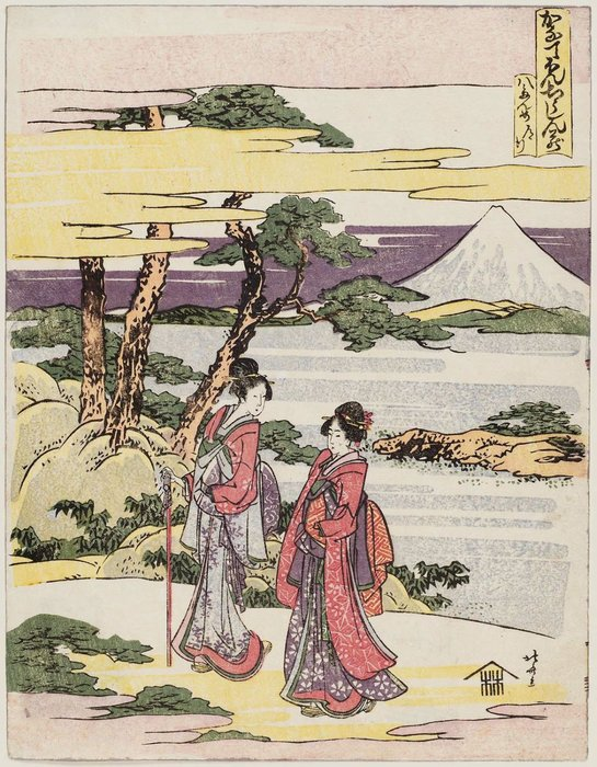 The Journey Scene by Katsushika Hokusai (1760-1849, Japan) | Oil Painting | WahooArt.com