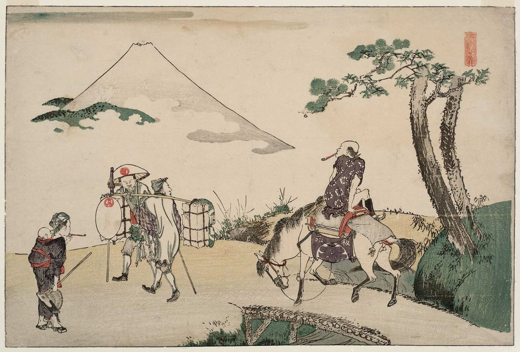 The Peak Of Mount Fuji by Katsushika Hokusai (1760-1849, Japan) | Oil Painting | WahooArt.com