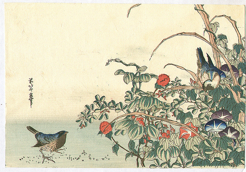 Two Birds by Katsushika Hokusai (1760-1849, Japan)