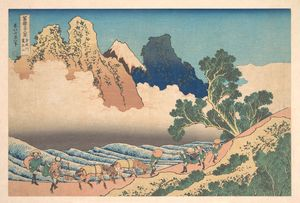 Katsushika Hokusai - View From The Other Side Of Fuji From The Minobu River