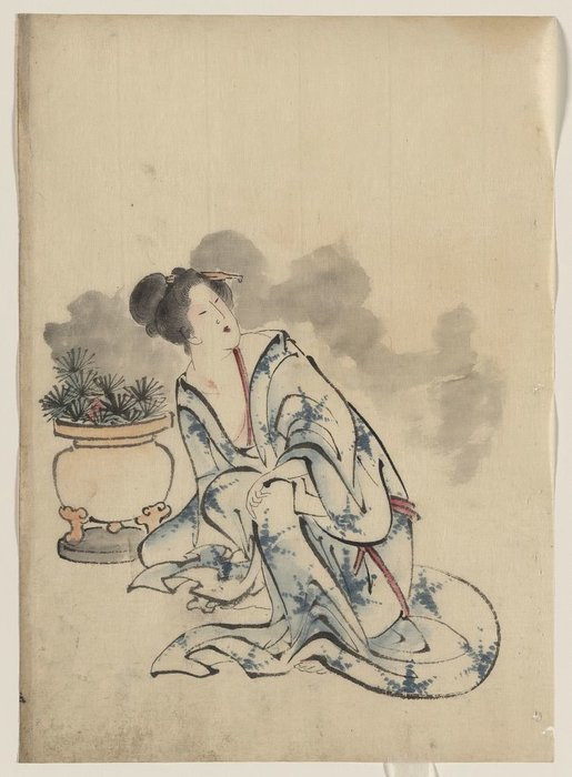 Woman, Possibly A Courtesan by Katsushika Hokusai (1760-1849, Japan) | Museum Quality Reproductions | WahooArt.com