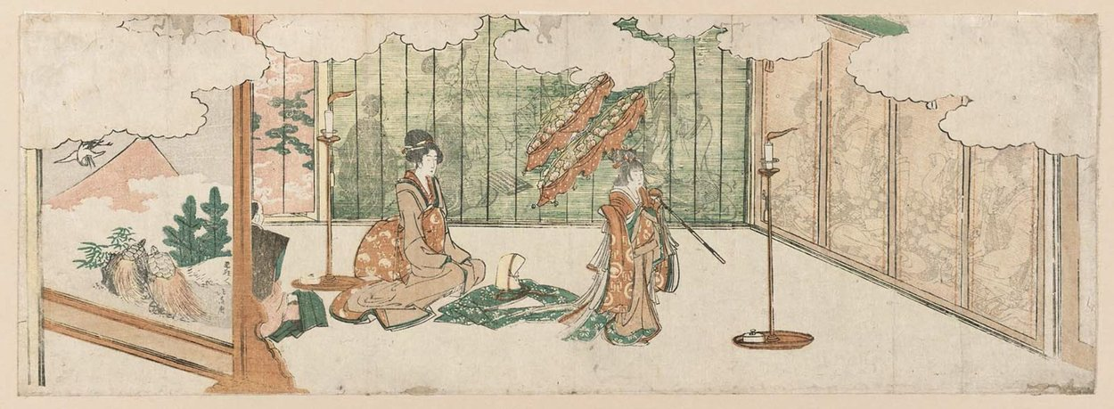 Young Girl Dancing At A Nobleman's Mansion by Katsushika Hokusai (1760-1849, Japan)