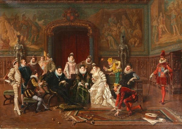 Court Scene by Ladislaus Bakalowicz (1833-1903, Poland) | Oil Painting | WahooArt.com