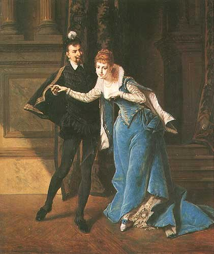 Inviting To Dance by Ladislaus Bakalowicz (1833-1903, Poland) | Museum Quality Reproductions | WahooArt.com