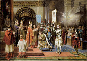 Ladislaus Bakalowicz - Joan Of Arc At The Coronation Of Charles Vii In Reims Cathedral