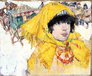Leon Shulman Gaspard - Siberian Girl In Yellow