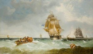 John Callow - Homeward Bound, J. D. Clink's Famous Three-masted Barque Oimara Entering The Thames