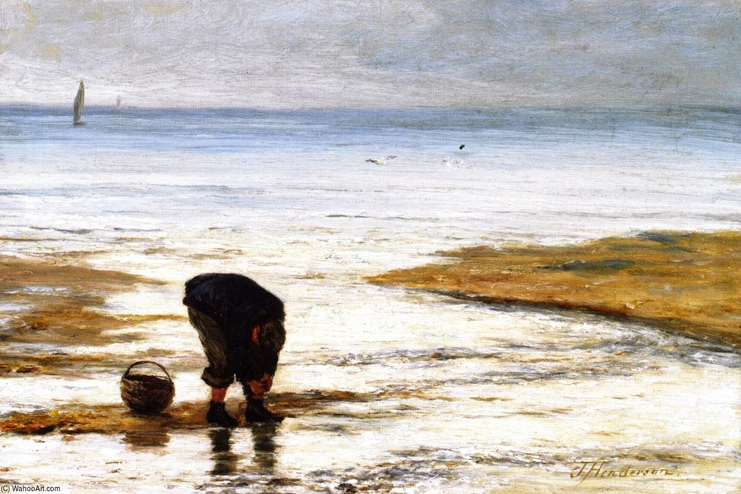 The Beach Comber by Joseph Henderson (1832-1908, Scotland) | Art Reproduction | WahooArt.com