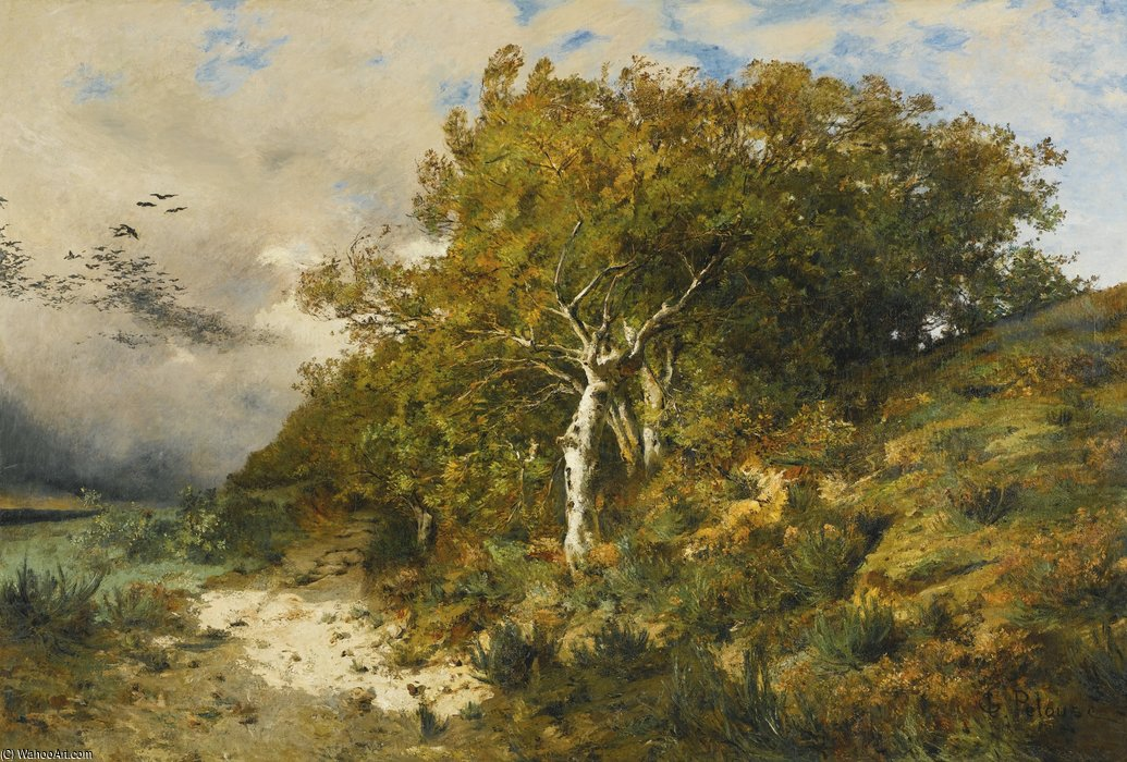 Foret de fontainebleau by leon germain pelouse 1838 1891 for Pelouse