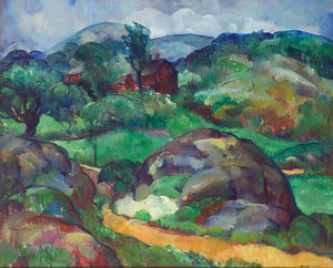 Leon Kroll - Landscape With House