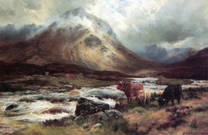 Louis Bosworth Hurt - A Spate In Glen Sligachan, Skye