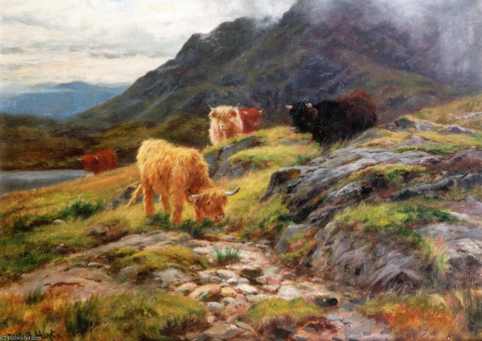 Byscuir-na-gillean, Skye by Louis Bosworth Hurt (1856-1929, United Kingdom) | Oil Painting | WahooArt.com