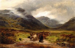 Louis Bosworth Hurt - Cattle Droving In The Highlands