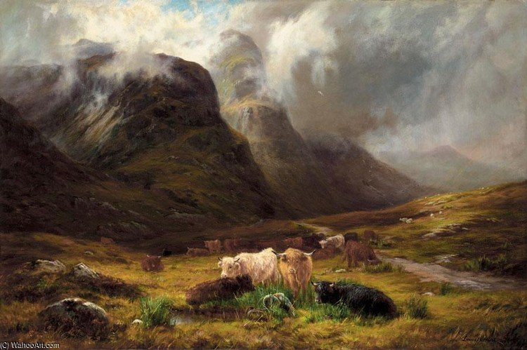 In Glencoe by Louis Bosworth Hurt (1856-1929, United Kingdom) | Art Reproduction | WahooArt.com