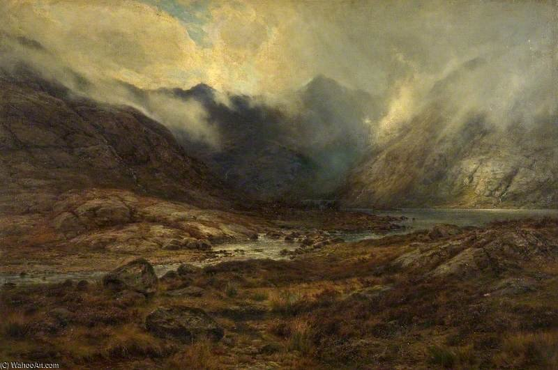 Loch Coruisk And The Cuillins, Skye by Louis Bosworth Hurt (1856-1929, United Kingdom) | Art Reproduction | WahooArt.com