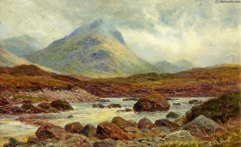 Buy Framed Print Marscow, Glen Sligachan, Skye by Louis Bosworth Hurt (1856-1929, United Kingdom) | WahooArt.com | Order Framed Giclee Marscow, Glen Sligachan, Skye by Louis Bosworth Hurt (1856-1929, United Kingdom) | WahooArt.com