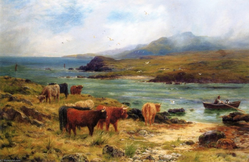 North Sound In Noss, Shetland by Louis Bosworth Hurt (1856-1929, United Kingdom)