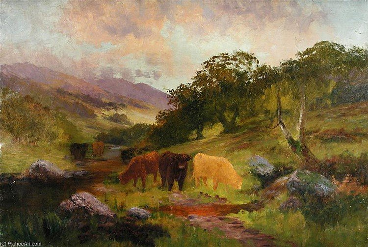 The Highlands by Louis Bosworth Hurt (1856-1929, United Kingdom)
