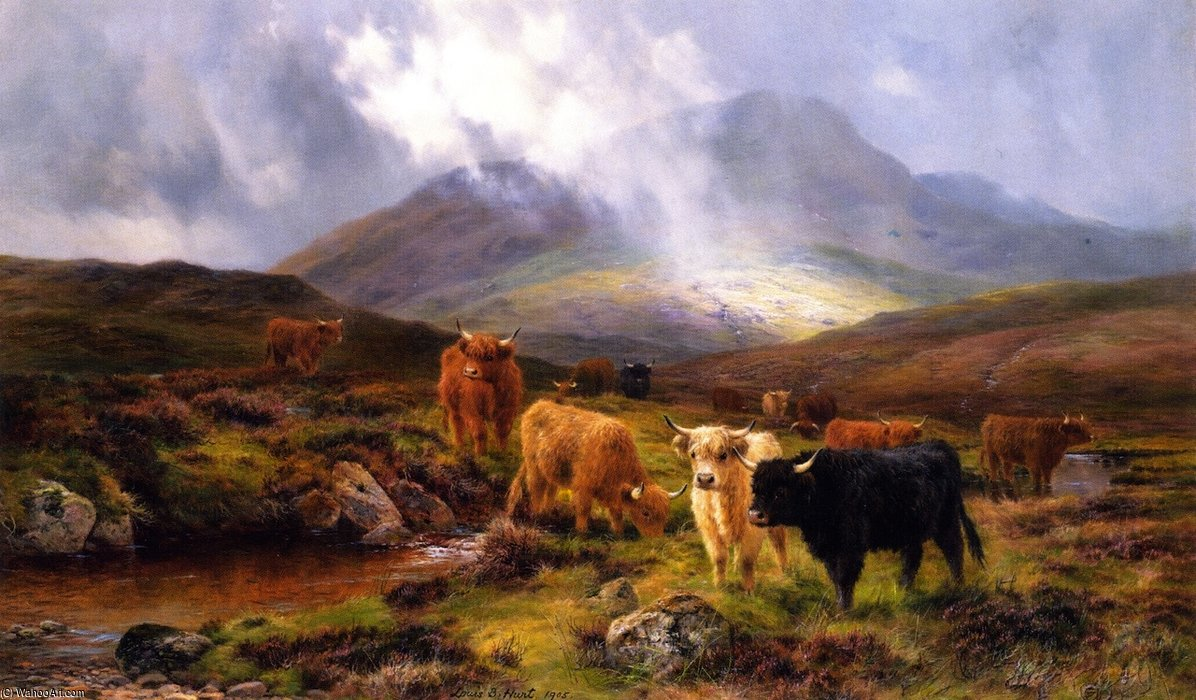 Through The Glen by Louis Bosworth Hurt (1856-1929, United Kingdom)