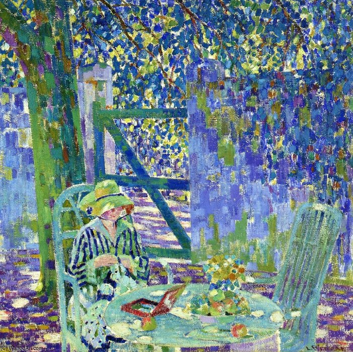 A Summer Afternoon by Louis Ritman (1889-1963, Russia)
