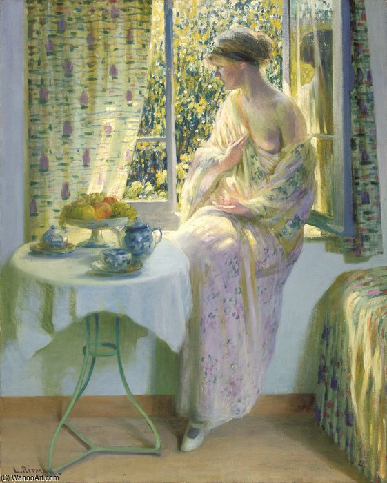Early Morning Sunshine by Louis Ritman (1889-1963, Russia) | Famous Paintings Reproductions | WahooArt.com