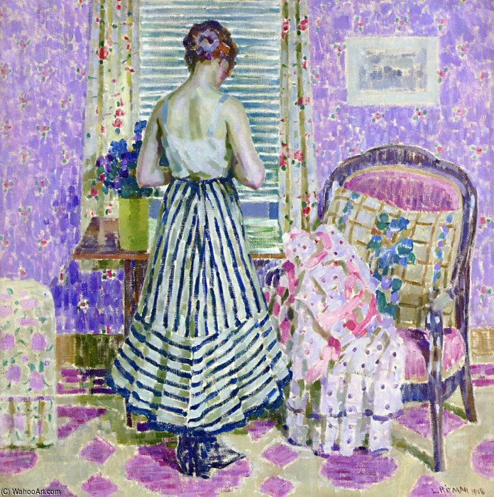 Interior by Louis Ritman (1889-1963, Russia) | Museum Quality Reproductions | WahooArt.com