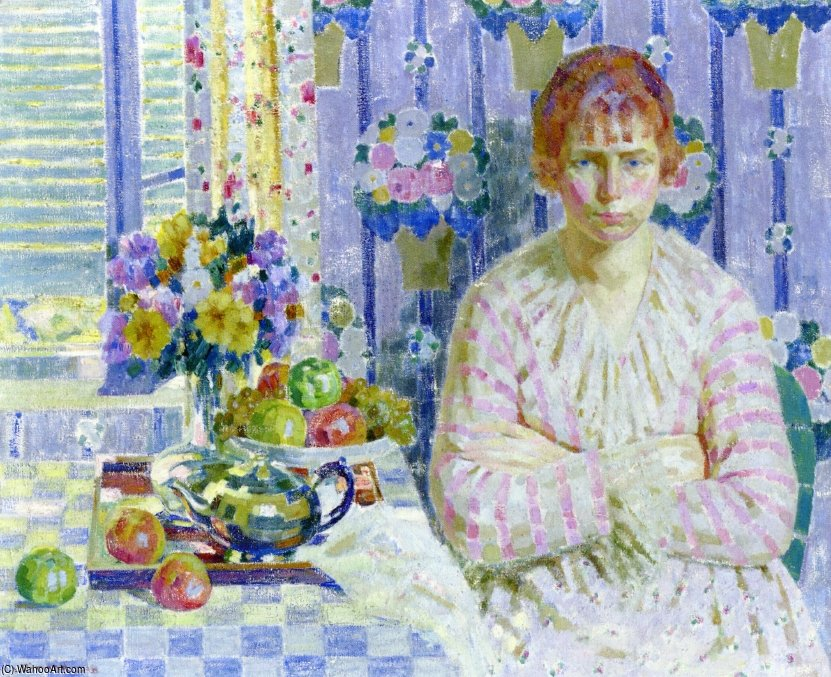 Pink And Blue by Louis Ritman (1889-1963, Russia)