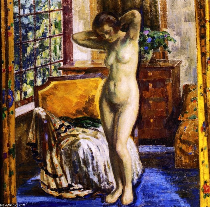 The Model by Louis Ritman (1889-1963, Russia) | Museum Quality Reproductions | WahooArt.com