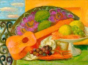 Mark Gertler - Still Life With Guitar And Fruit