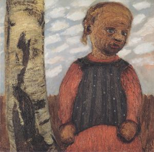 Paula Modersohn Becker - Girl In A Red Dress