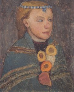 Paula Modersohn Becker - Girl With Blue-and-white Chain In Her Hair