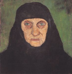 Paula Modersohn Becker - Head Of An Old Woman With Black Scarf