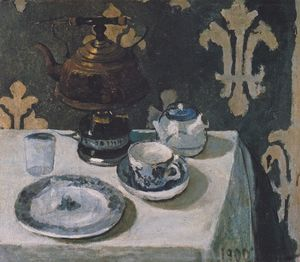 Paula Modersohn Becker - Still Life With Blue And White Porcelain Tea Set