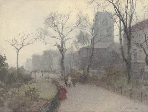 A Misty Morning by Rose Maynard Barton (1856-1930, Ireland)